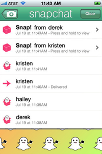 how to send a screenshot on snapchat