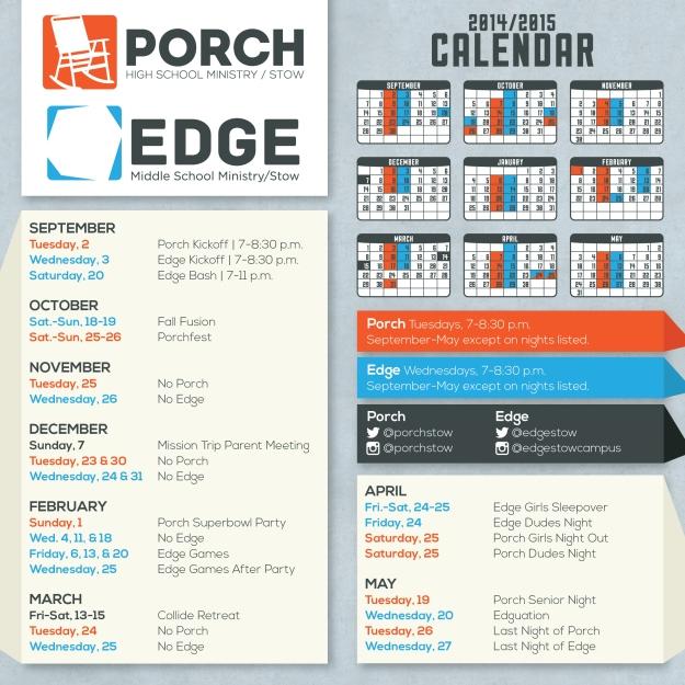 2014-2015 Stow Student Min Calendar