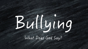 Bullying Sermon Slide